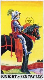 Карта Таро: Рыцарь Пентаклей